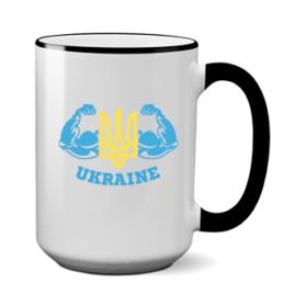 Печать на чашке Сила Украины, Печать на футболках, чашках, кепках. Индивидуальный дизайн