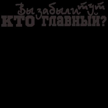 Печать на футболке Кто главный, Печать на футболках, чашках, кепках. Индивидуальный дизайн