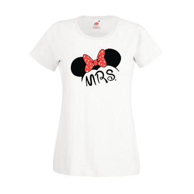 Печать на футболке Мини Mrs, Печать на футболках, чашках, кепках. Индивидуальный дизайн