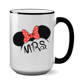 Печать на чашке Мини Mrs, Печать на футболках, чашках, кепках. Индивидуальный дизайн