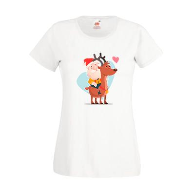 Печать на футболке Дед мороз, Печать на футболках, чашках, кепках. Индивидуальный дизайн