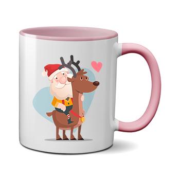 Печать на чашке Дед Мороз, Печать на футболках, чашках, кепках. Индивидуальный дизайн