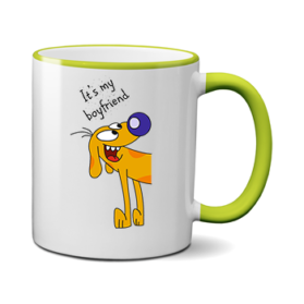 Печать на чашке Пес, Печать на футболках, чашках, кепках. Индивидуальный дизайн