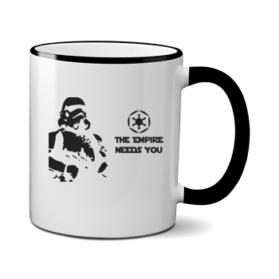 Печать на чашке Звездные войны Empire needs, Печать на футболках, чашках, кепках. Индивидуальный дизайн