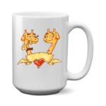 Печать на чашке Жирафы, Печать на футболках, чашках, кепках. Индивидуальный дизайн