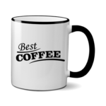 Печать на чашке Лучший кофе, Печать на футболках, чашках, кепках. Индивидуальный дизайн