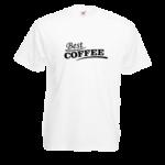 Печать на футболке Лучший кофе, Печать на футболках, чашках, кепках. Индивидуальный дизайн