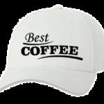 Печать на кепке промо Лучший кофе, Печать на футболках, чашках, кепках. Индивидуальный дизайн