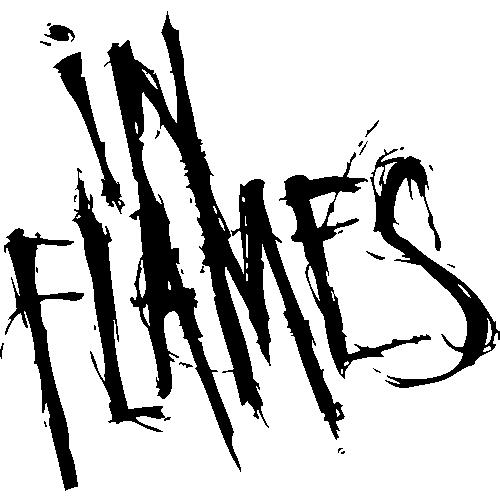 Печать на чашке In Flames, Печать на футболках, чашках, кепках. Индивидуальный дизайн