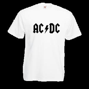Печать на футболке AC DC, Печать на футболках, чашках, кепках. Индивидуальный дизайн