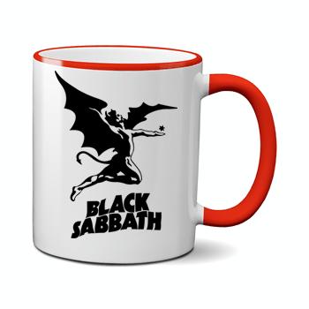 Печать на чашке Black sabbath, Печать на футболках, чашках, кепках. Индивидуальный дизайн