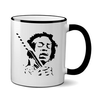 Печать на чашке Jimi Hendrix, Печать на футболках, чашках, кепках. Индивидуальный дизайн