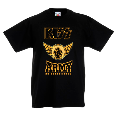 Печать на футболке Kiss Army, Печать на футболках, чашках, кепках. Индивидуальный дизайн