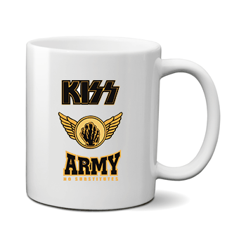 Печать на чашке Kiss Army, Печать на футболках, чашках, кепках. Индивидуальный дизайн