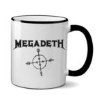 Печать на чашке Megadeth, Печать на футболках, чашках, кепках. Индивидуальный дизайн
