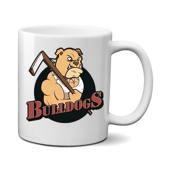 Печать на чашке Bulldogs, Печать на футболках, чашках, кепках. Индивидуальный дизайн