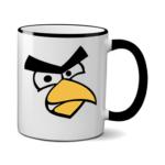Печать на чашке Angry Birds, Печать на футболках, чашках, кепках. Индивидуальный дизайн