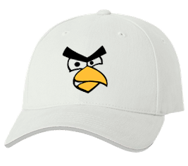 Печать на кепке промо Angry Birds, Печать на футболках, чашках, кепках. Индивидуальный дизайн