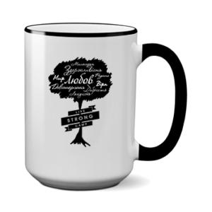 Печать на чашке Дерево любви, Печать на футболках, чашках, кепках. Индивидуальный дизайн