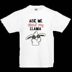 Печать на футболке Прикольная лама, Печать на футболках, чашках, кепках. Индивидуальный дизайн