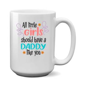 Печать на чашке Лучший папа для девочек, Печать на футболках, чашках, кепках. Индивидуальный дизайн