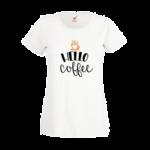 Печать на футболке Кофе привет, Печать на футболках, чашках, кепках. Индивидуальный дизайн