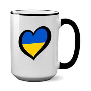 Печать на чашке Украина, Печать на футболках, чашках, кепках. Индивидуальный дизайн