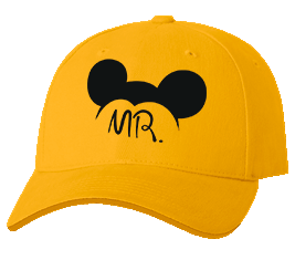 Печать на кепке промо Микки, Печать на футболках, чашках, кепках. Индивидуальный дизайн