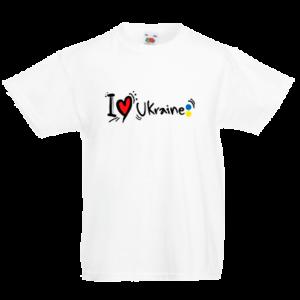 Друк на футболці Люблю Україну, Друк на футболках, чашці, кепці. Індивідуальний дизайн
