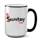 Печать на чашке Я секретарь, Печать на футболках, чашках, кепках. Индивидуальный дизайн