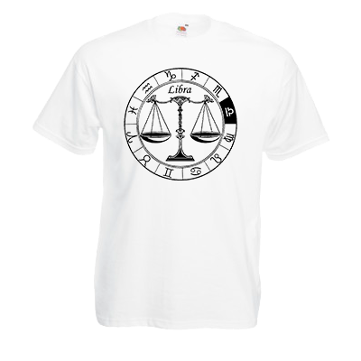 Печать на футболке Весы, Печать на футболках, чашках, кепках. Индивидуальный дизайн