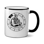 Печать на чашке Водолей, Печать на футболках, чашках, кепках. Индивидуальный дизайн