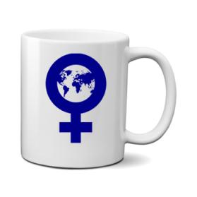 Печать на чашке Женский мир, Печать на футболках, чашках, кепках. Индивидуальный дизайн