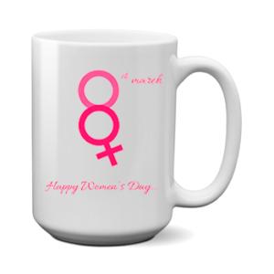 Печать на чашке women's day, Печать на футболках, чашках, кепках. Индивидуальный дизайн