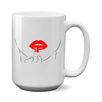 Друк на чашці Помада, Друк на футболках, чашці, кепці. Індивідуальний дизайн