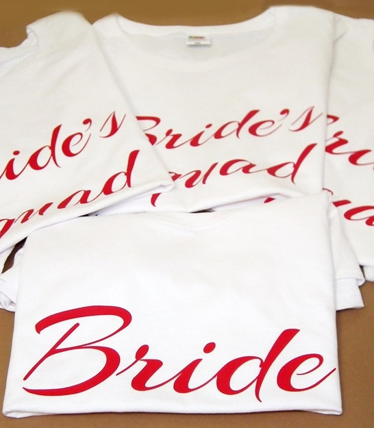Печать на футболке Свадьба