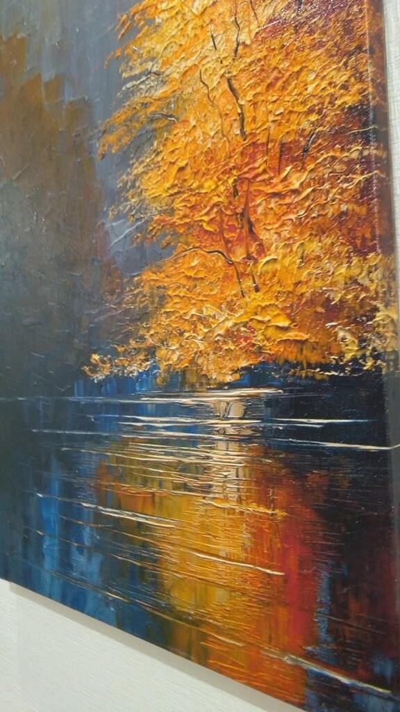 """Печать на холсте """"Осень"""" Дизайн офисов. Картины на холсте. Фото на холсте."""
