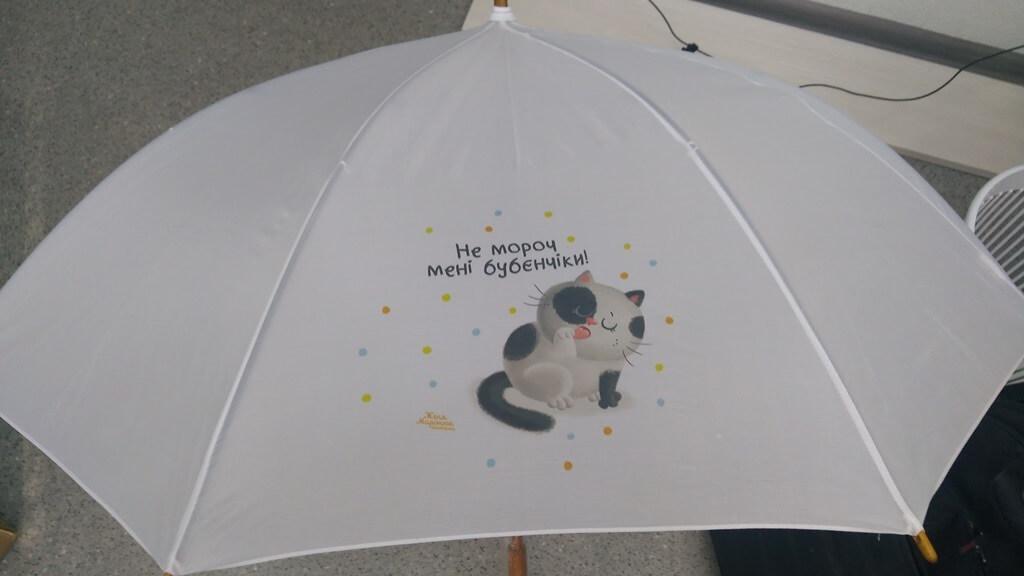 Печать на зонтах. Фирменный стиль. Брендирование.  Киев.