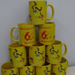 Печать на детских чашках для школы.