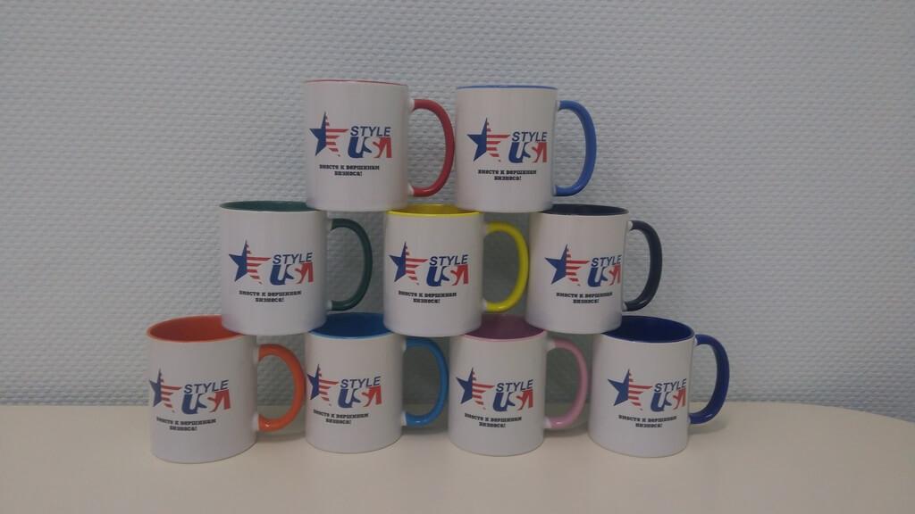Печать на чашках для USA Style. Низкие цены.
