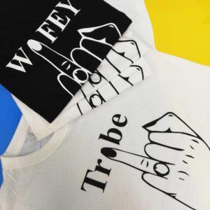 Заказать парные футболки для молодожен. Печать на футболках. Заказать печать на футболках. Срочная печать на одежде. Парные футболки. Подарок паре. Подарок любимым. Подарок на свадьбу. Печать для свадьбы Киев. Печать по Украине.
