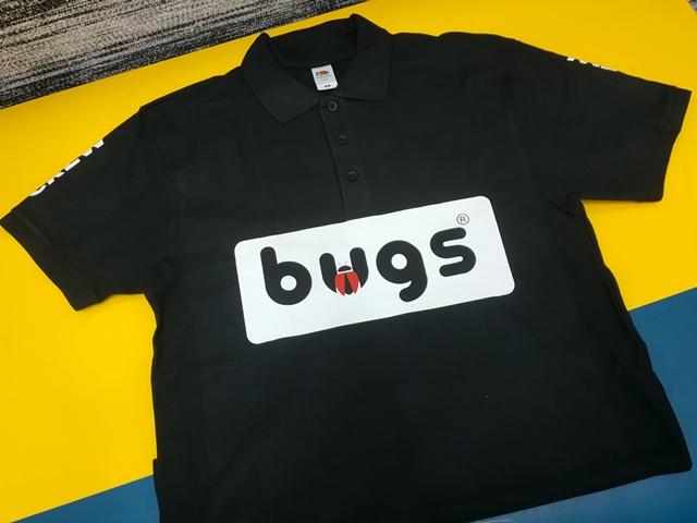 Печать Bugs на одежде. Bugs на поло, Заказать печать оптом. Печать логотипа Bugs.