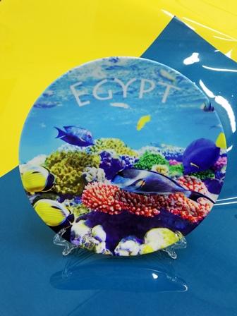 Сувенирные тарелки. Печать на тарелках. Тарелки на подарок. Egypt на тарелке. Тарелки на заказ. Рыбки на тарелке.