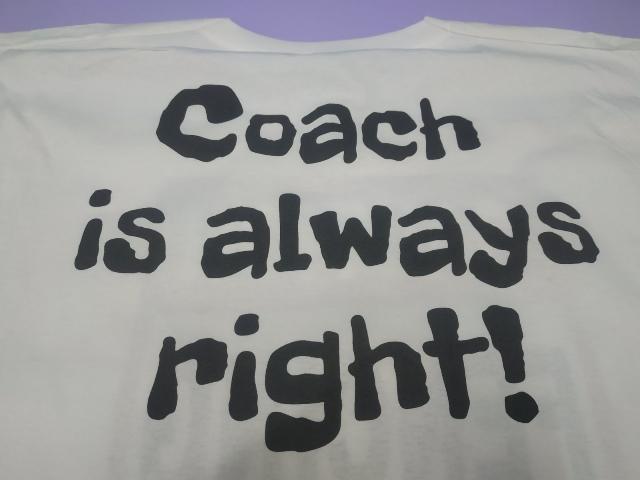 Тренер всегда прав. Футболка на подарок тренеру. Футболка на подарок коучу. Футболки на подарок. Печать на футболке тренера. Печать на футболках Киев.